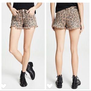NEW Blank NYC Catwalk Denim Leopard Cutoff Shorts